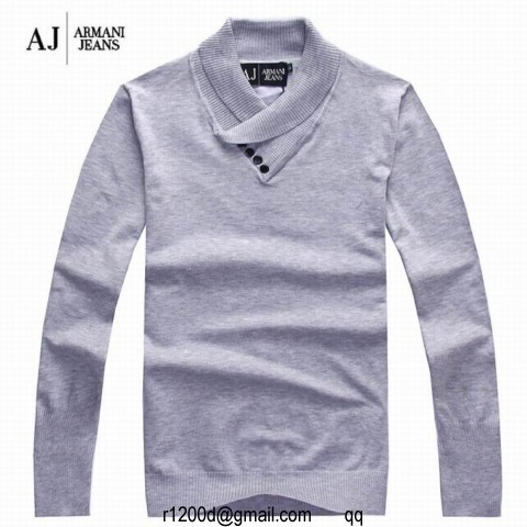 Pull armani jeans homme pas cher